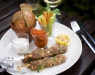 lamb kebab on a stick & greek tzatziki